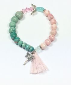 Armbänder - sommerliches Jade Perlenarmband  - ein Designerstück von von-Ela bei DaWanda
