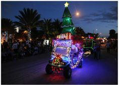 2013 Christmas parade - Ocean Drive, Vero Beach! Dale Sorensen Real Estate joined in the fun with their DSRE golf cart decorated for the festivities.