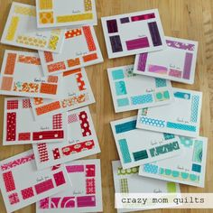 crazy mom quilts: tiny scraps are useful, too making thank you notes from fabric scraps information