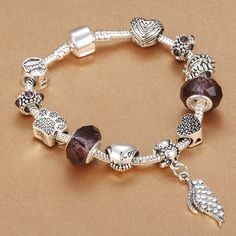 Spinner Fashion Silver Plated Murano Glass Charm Beads Fit Pandora Charm Bracelet For Women Jewelry Accessories Comfortable And Easy To Wear Beads & Jewelry Making Beads