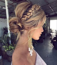 50 Fabulous Braided Updo Hairstyle Women Ideas - Up hairstyles - Frisuren Easy Summer Hairstyles, Easy Hairstyles, Prom Hairstyles, Hairstyle Ideas, Everyday Hairstyles, Braided Front Hairstyles, Bridesmaids Hairstyles, Beautiful Hairstyles, Natural Hairstyles