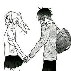 Manga Couple, Anime Love Couple, Anime Couples Manga, Art Anime, Anime Art Girl, Manga K, Desenhos Love, Anime Amor, Cute Anime Coupes