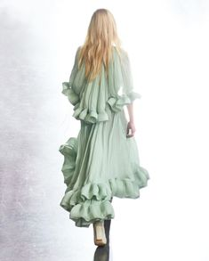 """LANVIN on Instagram: """"Floaty and ethereal, the new Charmeuse dresses, available now via link in bio. #LanvinFW20 #Lanvin"""" Romantic Woman, Haute Couture Gowns, French Fashion Designers, Fashion Studio, Lanvin, Wrap Dress, Boho, Chic, Dresses"""