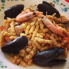 Passatelli al sugo di pesce - Instagram by melo0789