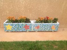 Jardineiras em mosaico