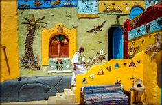 dazzle your eyes with fascinating scenery of nubian village in aswan, with its exciting lifestyle and traditional of nubian habits, Spend a delightful day at one of the nubian houses National Geographic Photo Contest, Dubai Events, Village Tours, Nile River, Abu Dhabi, Ancient Egypt, Egyptian, Backdrops, City