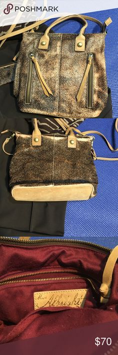 """Miss Albright Crossbody Distressed and adorable. 60% Calf hair 40% cow leather. Some pilling on the inside but still a lot of life left in this cutie pie.  Comes with the tiny little coin purse attached. Measures 11"""" x 10"""" deep.  Coin purse is 3"""" x 2"""". All zippers are functional. Inside has one zippered pocket and one open pocket. Anthropologie Bags Crossbody Bags"""
