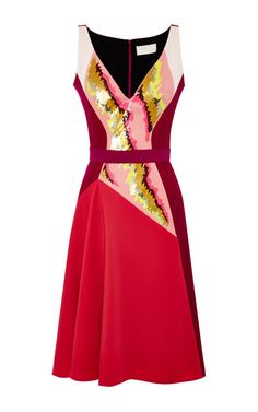 Cherry never looked so good. Current Dress Cerise by Peter Pilotto.