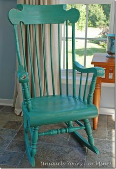 Painted rocking chair with ASCP Provence and Florence..I have chair can't decide on color to paint.
