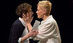 Katie West as Ophelia and Maxine Peake as Hamlet. Royal Exchange, Manchester. 2014