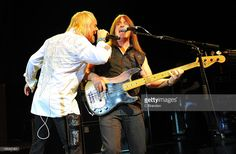 Bernie Shaw and Trevor Bolder of Uriah Heep performs on stage at Shepherds Bush…
