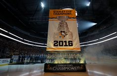 October 13, 2016 vs. Washington: The #Pens raised their 2016 Stanley Cup Championship banner during a pre-game ceremony, and then proceeded to defeat the Capitals in the shootout. Final Score, 3-2 Penguins (SO).