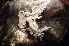 Angel Art Note Card Dreamy Angel Art Note Cards by KathyFornal