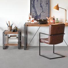 Schreibtisch Manchester Akazie massiv/Metall