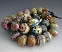 Naos un verre de chaque perle paire Mega Set 28 perles faite à commande Artisan verre perles à la main au chalumeau perles SRA