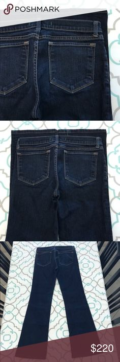 """💙👖Gorgeous J Brand Jeans👖💙28 5/6 30"""" Dark Wash 💙👖Gorgeous J Brand Jeans👖💙 Bootcut. Size 28 (5/6). 30"""" Inseam. 8.75"""" Rise. 14.5"""" Across Back. No fabric content. Great Stretch. Dark Blue Wash. Slight Fading. Hemmed (nice). Contrasting. LOVE! J Brand! Nordstrom! Bloomingdales! Saks! Ask me any questions! : ) J Brand Jeans Boot Cut"""