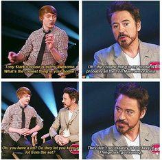 RDJ Robert Downey Jr Iron Man Avengers lol love him Avengers Humor, Funny Marvel Memes, Marvel Jokes, The Avengers, Memes Humor, Dc Memes, Funny Memes, Hilarious, Man Humor