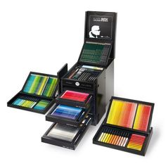 Graf von Faber-Castell Karlbox Art Set available to buy at Harrods. Shop Graf von Faber-Castell online and earn Rewards points. Karl Lagerfeld, Adult Coloring, Coloring Books, Graf Von Faber Castell, Crayon Box, Pencil Boxes, Drawing Tools, Colored Pencils, School Supplies