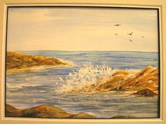 "#Simply #Watercolors ""#CrashingWaves"""