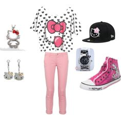 """Hello Kitty Swag =]"" by eddy999 on Polyvore"