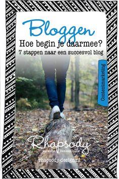 De drempel om te gaan bloggen is soms best hoog. In dit blog een 7-stappen plan om een succesvol blog te starten en te onderhouden.