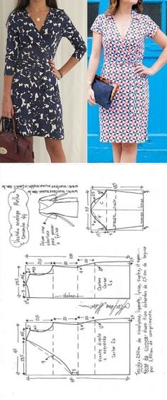 New Sewing Clothes Easy Costura Ideas Sewing Dress, Dress Sewing Patterns, Love Sewing, Diy Dress, Sewing Clothes, Clothing Patterns, Diy Clothes, Fabric Sewing, Skirt Patterns