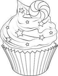 Billedresultat for cupcake stregtegning