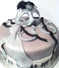 Fifty Shades of Grey Birthday Cake