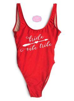 56a966136bf Items similar to Bride Vibe Tribe. Bride Bathing suit. Bride Swimwear. Bride  Gift. Bridal Bathing suit. Swim Suit. Bridesmaid Gift. Honeymoon. on Etsy