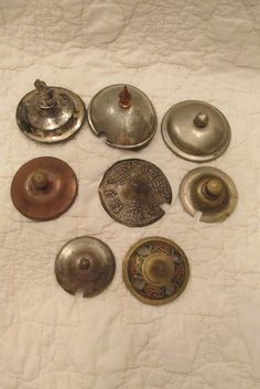 Vintage lot of Sugar or Creamer Covers 8 brass ect SALE by rarefinds4u on Etsy