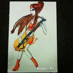 Guitar player Drawing