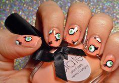 "Nailstorming #27 - Oeuvre d'art (2) Inspiration Takashi Murakami ""Jellyfish Eyes"""