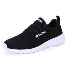 Breathable Men Casual Shoes Summer Lace Up Mens Flats,  Breathable Comfortable Zapatillas Hombre  Light Soft Men Summer Shoes