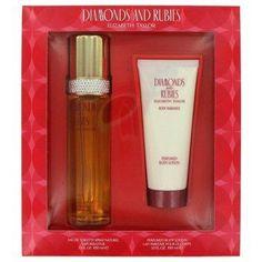 Diamonds And Rubies By Elizabeth Taylor Gift Set -- 3.3 Oz Eau De Toilette Spray + 3.3 Oz Body Lotion