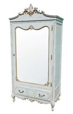 Elenore French Aquitaine Blue Armoire - Chic Boutique Interiors ...