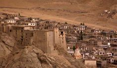 Leh Palace overlooks the Ladakhi Himalayan town of Leh