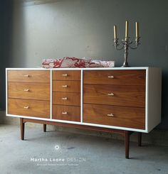 Mid century dressers, credenzas, hollywood regency, and transitional furniture that have been turned into sophisticated statement pieces with the bold use of design and color. Mcm Furniture, Classic Furniture, Upcycled Furniture, Furniture Makeover, Vintage Furniture, Painted Furniture, Furniture Design, Cheap Furniture, Mid Century Buffet