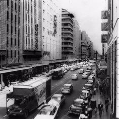 photo c 1955 Johannesburg South Africa city street scene 1365-03