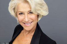 Dame Helen Mirren appears in the new L'Oreal advertising campaign with a bright blonde bob...
