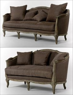 This classic aubergine brown sofa and loveseat set adds character to any space… Sofa And Loveseat Set, Couch, Rustic Wood Furniture, Brown Sofa, Grey Oak, Living Room Sets, Interior Inspiration, Classic Style, Love Seat