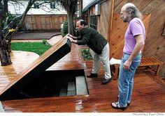 No basement? Trap door wine cellar on the deck! :)