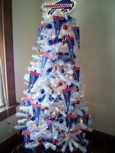 Buffalo Bills Christmas Tree - 6' tall. My hubby and I need this!
