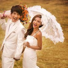 Vintage White Lace Umbrella Wedding Parasol Umbrellas Sun Umbrella Wedding Decoration Event Party Supplies Hot Sale Cheap Price(China (Mainland))