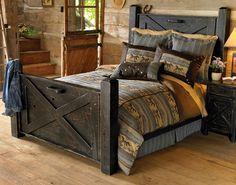 Black Barn door bed