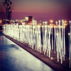 Typha, a marker made of light. Design Susana Jelen and Eduardo Leira. iGuzzini on Instagram. #Pathways #lighting #iGuzzini #magic