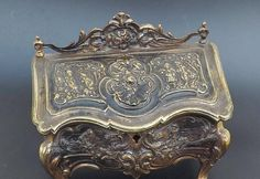 Antique French jewellery casket French art nouveau jewellery