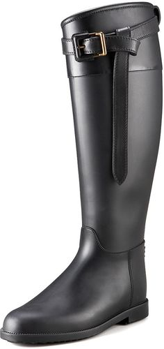 Burberry Riding Rubber Rain Boot
