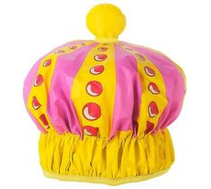 Unleash your inner Aretha, Beyonce, Taylor or Brittany while you belt out tunes in the shower rocking our Queen of the Shower Cap!Great for children, the young at heart and for moms humorously displaying their rule over their chaotic kingdom (because they know they can't take a shower without being interrupted.)Also perfect for keeping hair dry in the bath or shower. Includes one shower cap.  100% PVC with elasticated opening.  100% Phthalate free.  One size fits most!