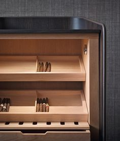 Cigar storage unit Storage unit Gentleman Collection by Flou | design Carlo Colombo