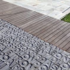 "BBC Boracay says:"" Concrete letters used as part of a walkway or terrace. We would like to use this idea as concrete tiles for a wall...""      ( © Marco Buzzoni )"